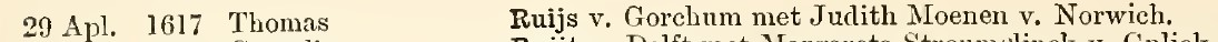 Extract from Parish Registers of the Dutch Congregation of Austin Friars, London